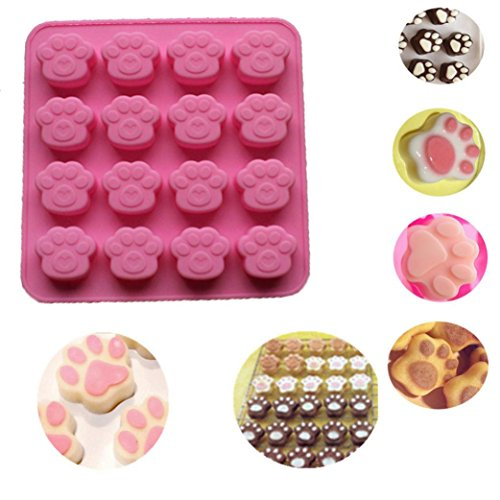 Vibola DIY Silicone Mold for Chocolate Ice cube Candy Jelly Pudding Soap Cake Cat Paw Print Silicone