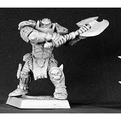Varaug Black Orc Warlord Warlord Minature Figures by Reaper Miniatures: Toys & Games