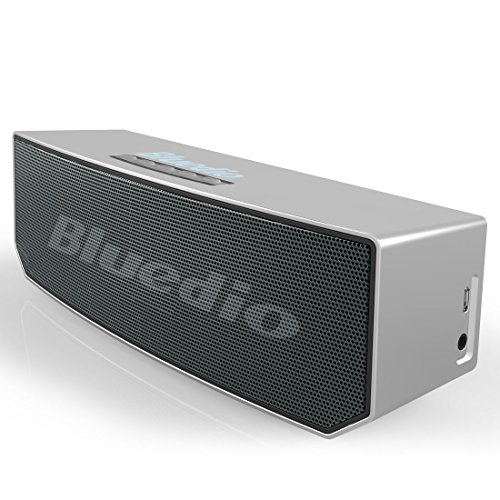 Bluedio BS-5 (Camel) Portable Bluetooth Wireless Stereo Speakers with Microphone for Cell Phone/TV/PC/Calls Portable Bluetooth Home Gift (Silver)