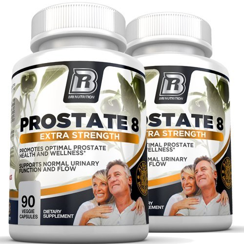 BRI Prostate8 - Prostate Health Formula With Vitamins and Minerals – Potent Urinary Function Supplement - 90 Count each, 2-Pack Vegetarian Capsules by BRI Nutrition