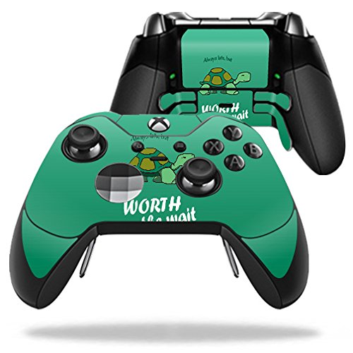 Price comparison product image Skin For Microsoft Xbox One Elite Controller – Late Turtle   MightySkins Protective, Durable, and Unique Vinyl Decal wrap cover   Easy To Apply, Remove, and Change Styles   Made in the USA