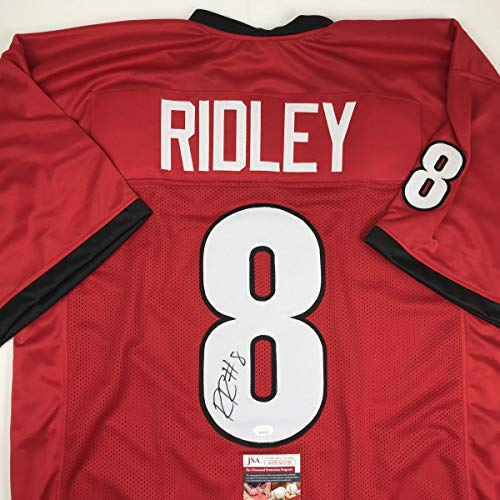 - Autographed/Signed Riley Ridley Georgia Red College Football Jersey JSA COA