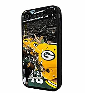 diy zhengNFL Green Bay Packers Helmet Team Player, Cool iphone 5c/ Smartphone Case Cover Collector iphone TPU Rubber Case Black