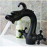 Rozinsanitary NEW Modern Oil Rubbed Bronze Bathroom Faucet Animal Dragon Shape Sink Mixer Tap