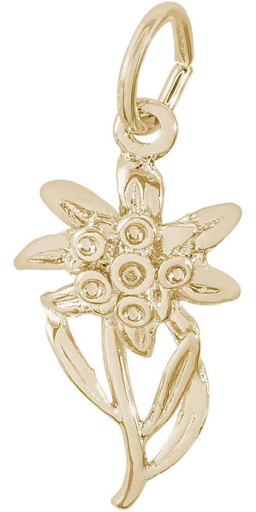 Rembrandt Charms, Edelweiss, 14K Yellow Gold