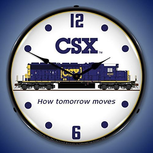 - CSX Railroad Lighted Clock by Collectable Sign and Clock