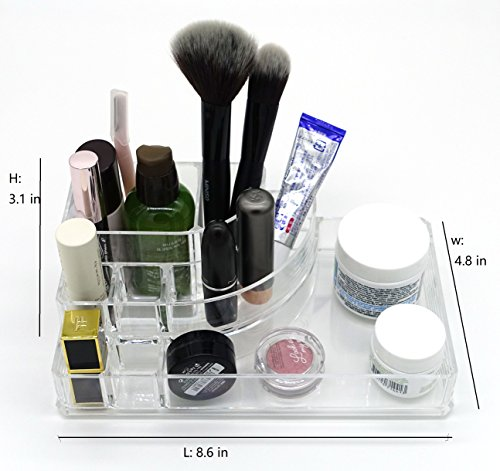 Acrylic / PS Multifunctional Makeup and Jewelry Organizer Packaging your cosmetic products with a simple-organized design (View amazon detail page) (8.64.83.1 inch)