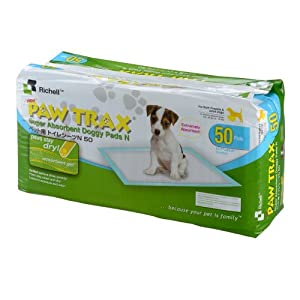 Paw Trax Super Absorbent Training Pads, 50 Pack