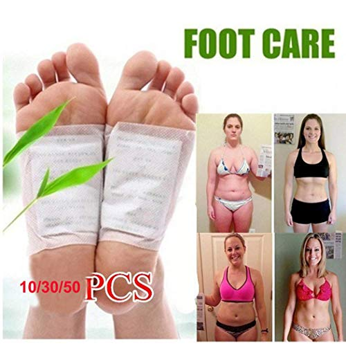KaiKBax Foot Pads|Bamboo Vinegar Foot Patch|Relieve Tired Foot Pads|Foot Care Relaxing Patch Help Deep Sleep 50pcs