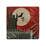 16-Count Paper Lunch Napkins, Halloween Frightful Night
