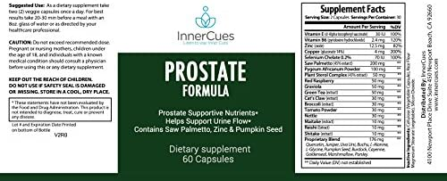 InnerCues Prostate Formula – Saw Palmetto 30 Herbs – Reduce Frequent Urination, Remedy Hair Loss Single Homeopathic Herbal Extract Health Supplements