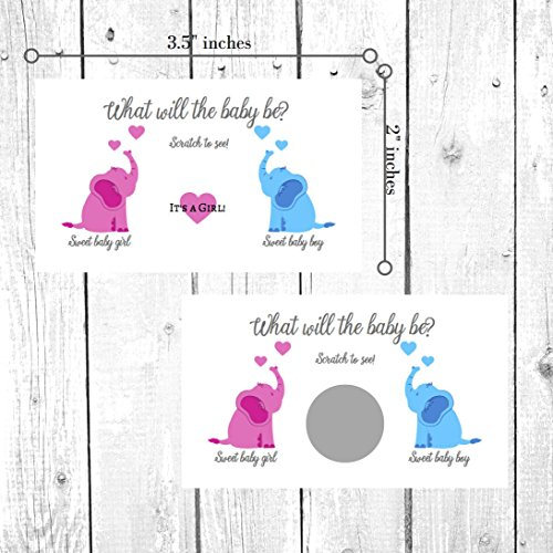It's A Boy/Girl Gender Reveal Scratch Off Cards | Gender Reveal Party Scratch Offs | Gender Reveal Games Party Favors | Baby Shower | Gender Announcement Cards to Mail or hand out (It's A Girl- Pink) -