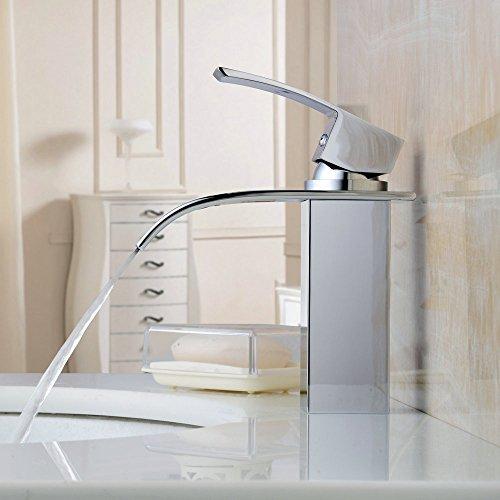 Hiendure ottone ponte montato cascata rubinetto lavabo bagno cucina monocomando cromo arredo - Rubinetto bagno cascata ...