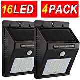 Sogrand Solar Lights Outdoor,Motion Sensor Light,4pcs-Pack 16LED Solar Security Light,Solar Motion Light,for Wall,Patio,Deck,Shed,Fence,Pathway and Driveway