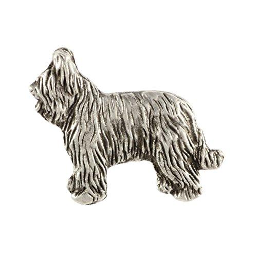 - Briard Body, Silver Hallmark 925, Dog, Pin, Limited Edition, Artdog