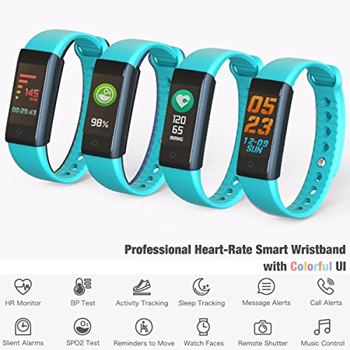 inDigi FTBracelet-X6s-GN-SO03 X6s Fitness Tracking Smartwatch Band with Heart Rate Monitor, Blood Pressure, SPO2 Levels, Pedometer & Calories Burned