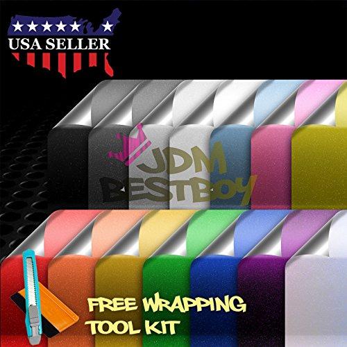 Metallic Decal Sheet (Free Tool Kit Gray Premium High Gloss Glitter Sparkle Metallic Car Vinyl Wrap Sticker Decal Film Sheet Bubble Free Air Release Technology - 24