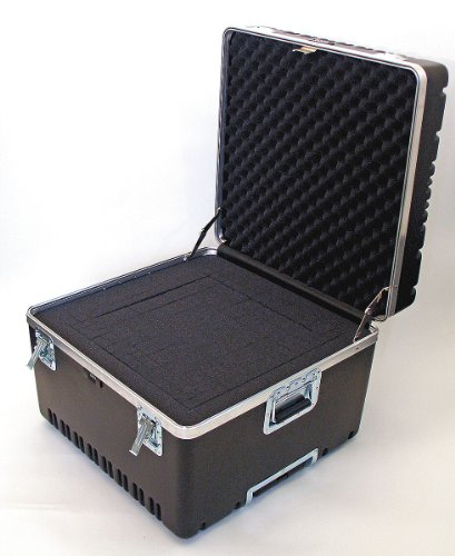 Heavy-Duty ATA Case with Wheels and Telescoping Handle in Black: 23 x 23.13 x 17.5 by Platt