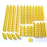 LEGO TECHNIC 25 pièces bras de levage mis en joune Groupes de 4 bras de levage avec 1x3 ; 1x5 ; 1x7 ; 1x9 ; 1x11 ; 1x15.