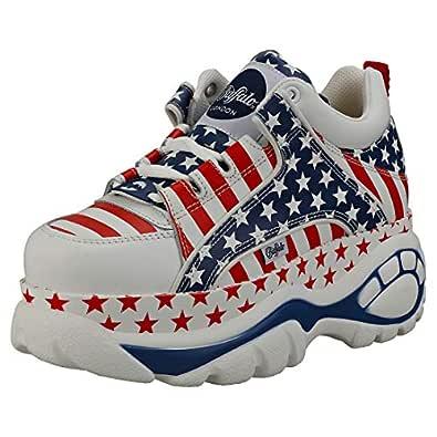 Buffalo London 1339-14 2.0 Womens Platform Trainers in USA Flag - 9 US