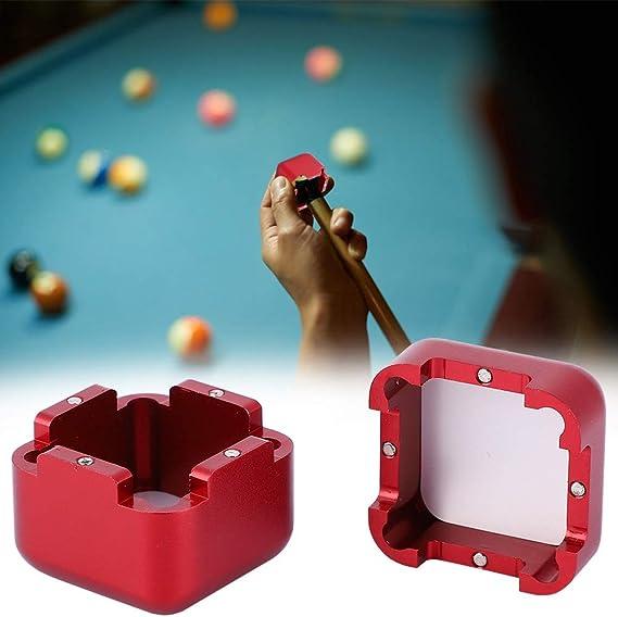 Alomejor Soporte de Tiza de Billar con Soporte de Tiza de Piscina Cubierta magnética Portador de tizas de Billar(Red): Amazon.es: Deportes y aire libre