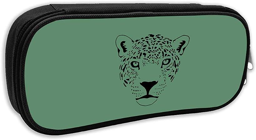 Xiongda Jaguar Cougar Cat Puma Panther - Estuche para lápices y bolígrafos, diseño de Leopardo, poliéster, Negro, Talla única: Amazon.es: Hogar