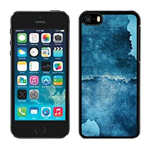 Blue Art Wall Hard Plastic iPhone 5C Protective Phone Case
