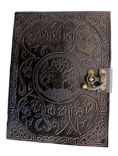 - Handmadecraft Large Tree of Life Leather Journal Diary Notebook for Writing Leather Diary Handmade Leather Journal