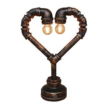 Grmn Lampe Loft Love De Table American Retro Pipe En nwOPk8X0