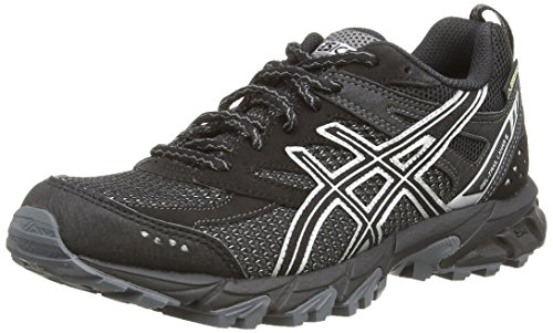 Asics Gel-Trail Lahar 6 G-TX, Damen Outdoor Fitnessschuhe Schwarz (Charcoal/Deep Purple/Lime 9736)