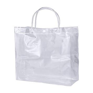 Yardwe Bolsa de Hielo con Asas de PVC Transparente para ...