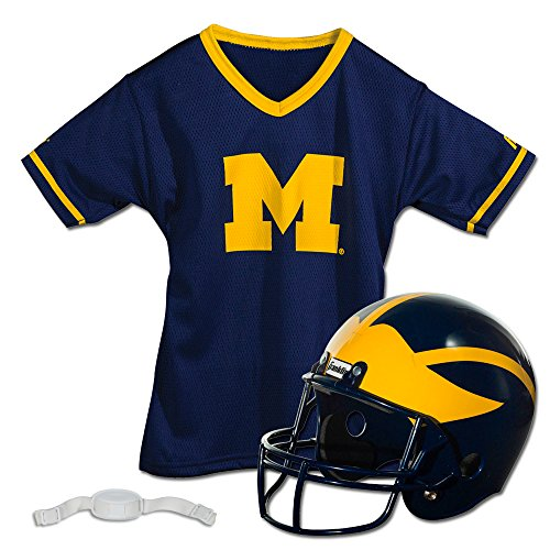 Franklin Sports NCAA Michigan Wolverines Youth Helmet and Jersey Set