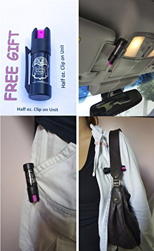 Police 3 MAGNUM PEPPER SPRAY 1/2oz RED Flip Top Molded Keychain Security Self Defense Strength by Police (Image #6)