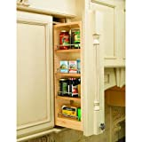 Rev-A-Shelf 432-WF39-6C 39 Inch Tall 6 Inch Wide Wall Filler Pull Out Organizer, Natural Wood Review