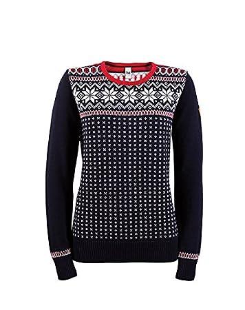 Dale of Norway Damen Pullover Garmisch Sweater, Navy Off White Raspberry, XS 118e8a2d54