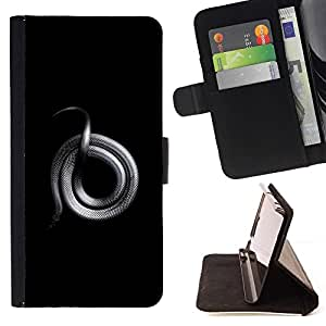 Momo Phone Case / Flip Funda de Cuero Case Cover - Argent Serpent Rocher Platinum - HTC One Mini 2 M8 MINI
