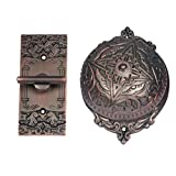 Adonai Hardware Belshazzar Brass Manual Old Fashion Door Bell or Twist Door Bell or Hand-Turn Door Bell - Oil Rubbed Bronze