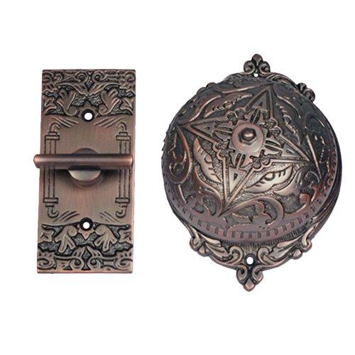 Adonai Hardware Belshazzar Brass Manual Old Fashion Door Bell or Twist Door Bell or Hand-Turn Door Bell - Oil Rubbed Bronze