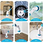 Zuperia Plastic Electric Spin Scrubber Machine Floor Cleaning Bathroom Tiles Cleaner Tool with 3 Replaceable Brushes and…