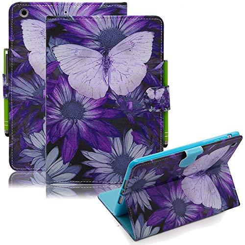 iPad Mini Case, Mini 2/3 Case, Dteck Beautiful Design PU Leather Folio Stand Wallet Case with Auto Wake/Sleep Smart Cover for Apple iPad Mini 1/Mini 2/Mini 3, Purple Butterfly