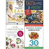 The clean plate gwyneth paltrow, tasty and healthy, healthy medic food for life, whole food healthier lifestyle diet 4 books collection set