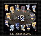 NFL Saint Louis Rams Evolution of The Team Uniform Framed Photograph