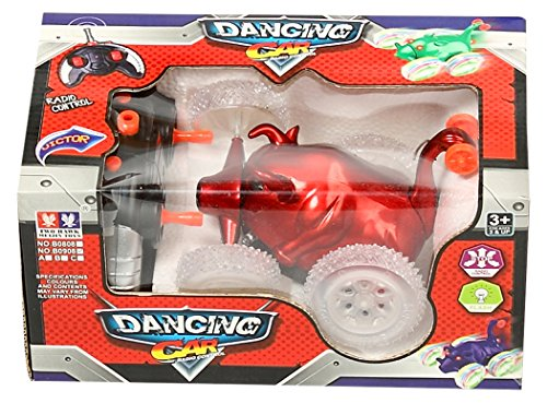 Sonic Dancing Remote Control Car Bull Shape with Lights, Red