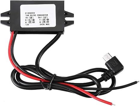 Dc Dc 12v Bis 5v 3a Micro Usb Wandler Spannungs Abwärtsregler Wasserdichte Stromrichter Für Das Auto Smartphone Baumarkt