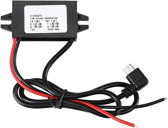 Buck Converter Voltage Regulator 8V-55V to 5V 3A USB Car Power Adapter Hot #ur