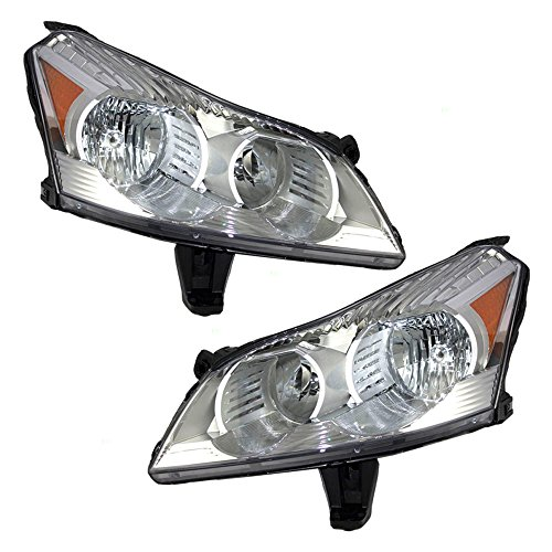 Driver and Passenger Headlights Headlamps Replacement for Chevrolet SUV 20794801 20794802 AutoAndArt ()