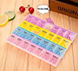 Gabion TM 28 cell Pill Box Whole Month Medicine Organizer Week 7 Days Tablet Portable Storage Case Health Care Holder