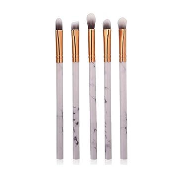 de56e102731c Amazon.com: Multifunctional Makeup Brush Kit Huphoon 5 PCS Marble ...
