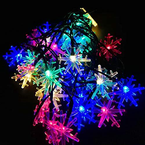 Solar Led Snowflake Lights in US - 2