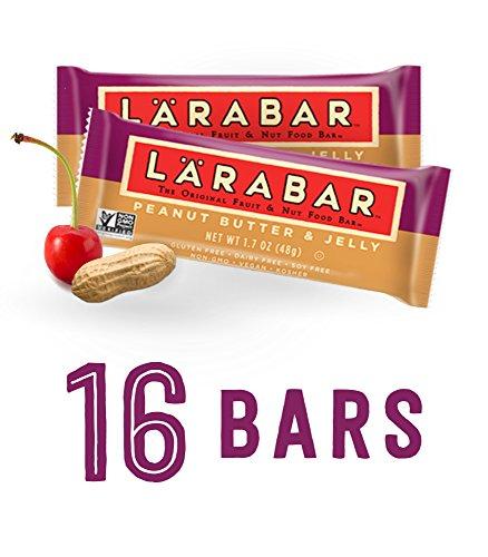 Cherry Peanut Pie (Larabar Gluten Free Bar, Peanut Butter & Jelly, 1.7 oz Bars (16)